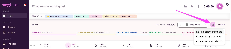 Add External Calendars