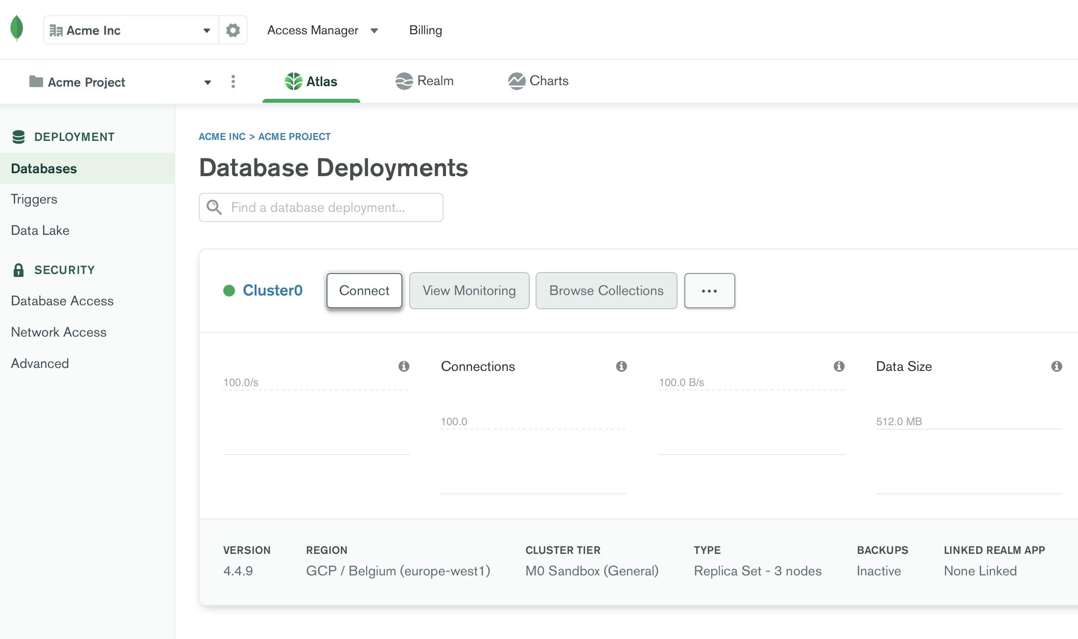 SimpleBackups - MongoDB Atlas Connect to Cluster