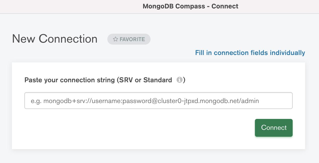 SimpleBackups - MongoDB Compass Connect Atlas