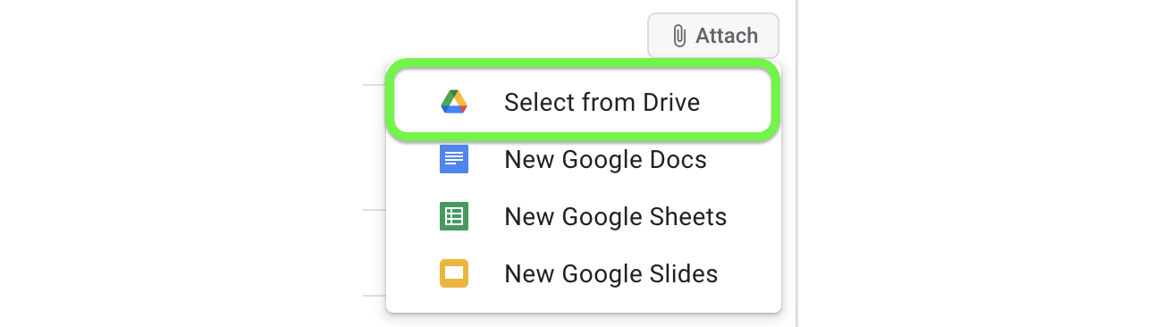 Attach a file to your task from Google Drive.