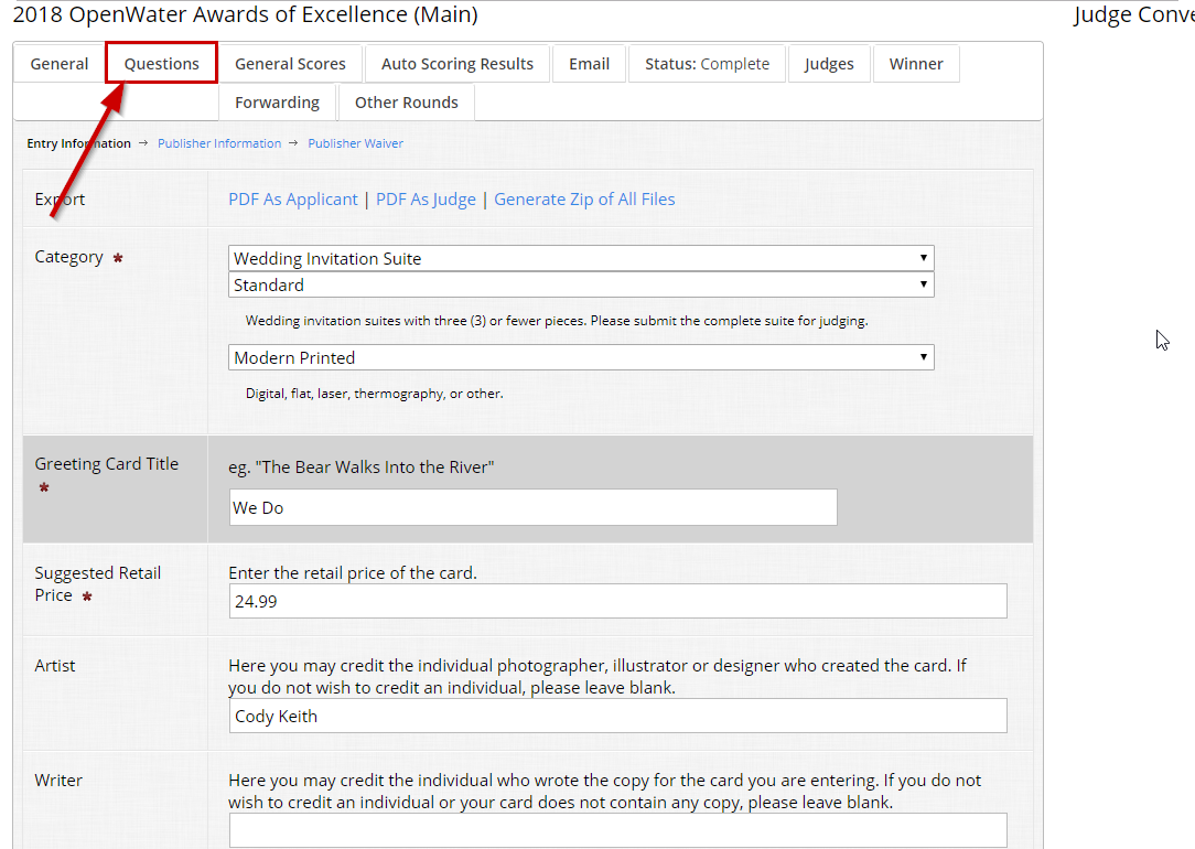 Edit an existing submission as an admin | OpenWater Help Center