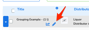 An arrow points to the Edit button beside the item.