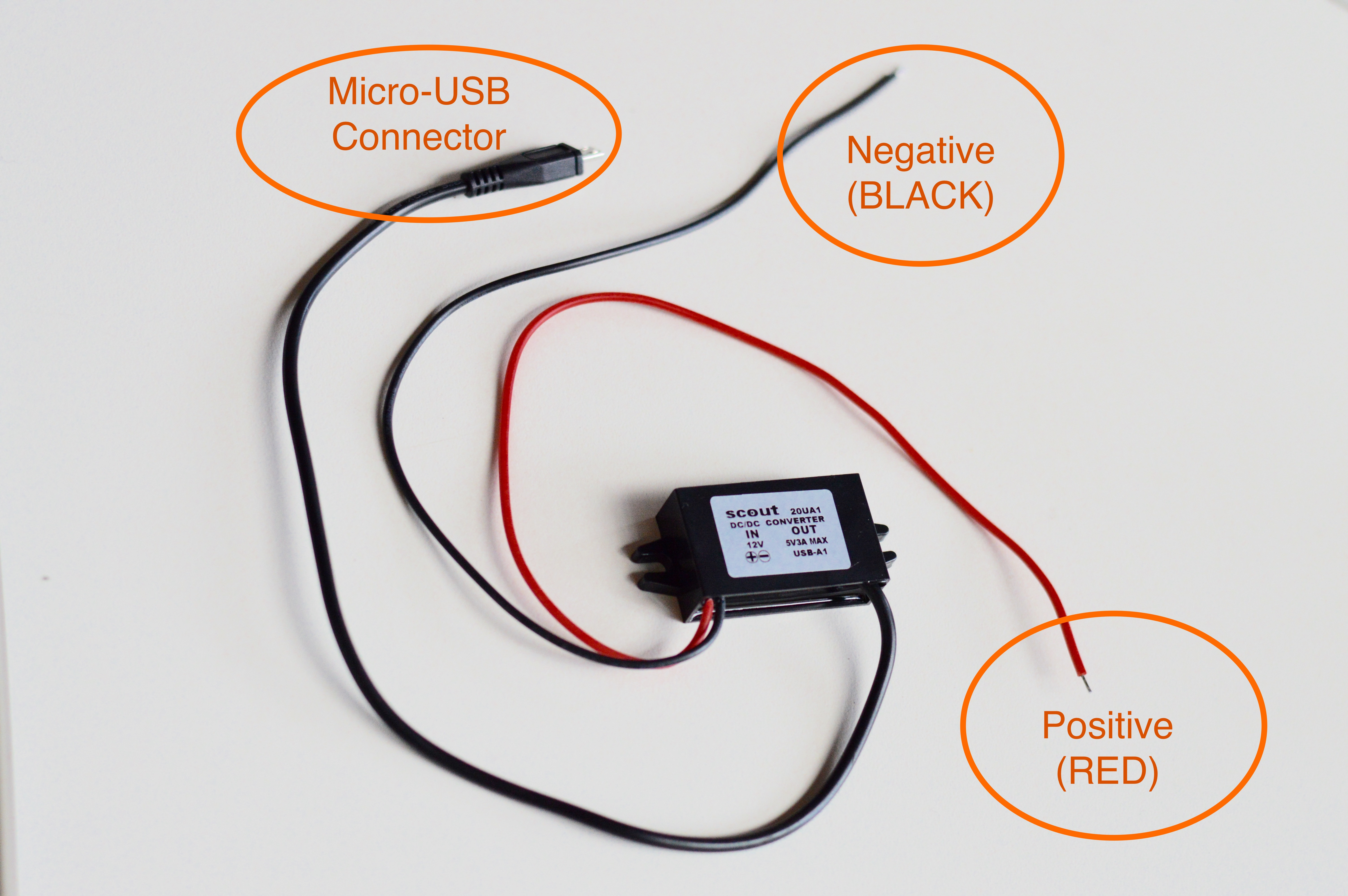 hardwiring your scout find my scout  the positive (red) wire needs to be securely fastened to the positive (red) connector on the battery the negative (black) wire needs to securely fastened