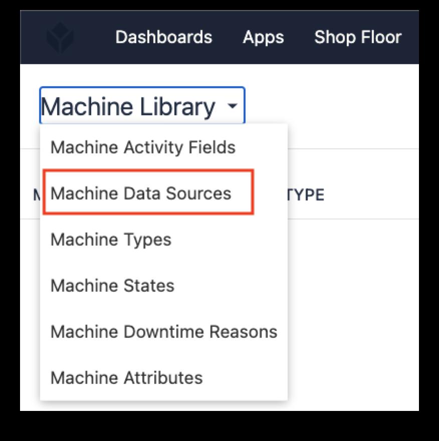 Tulip App Editor Machine Data Sources