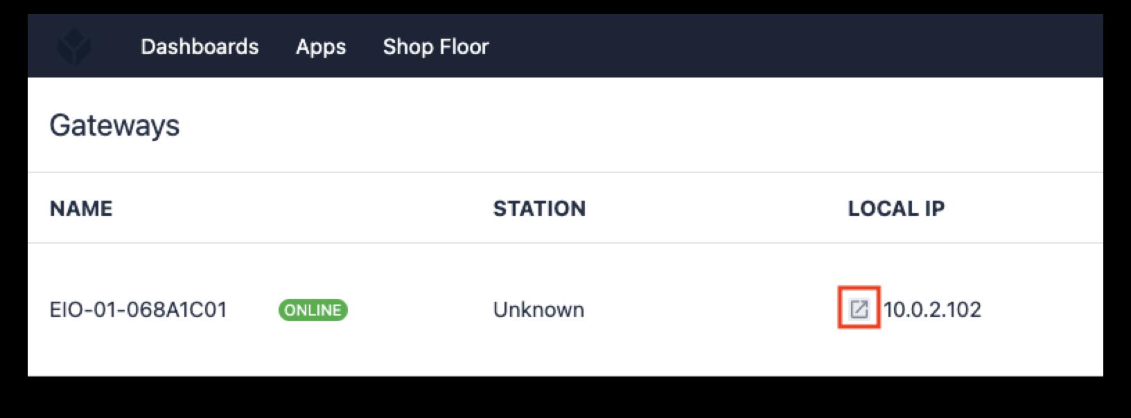 Tulip Shop Floor Portal for Gateway