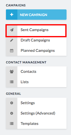 sent campaigns highlighted