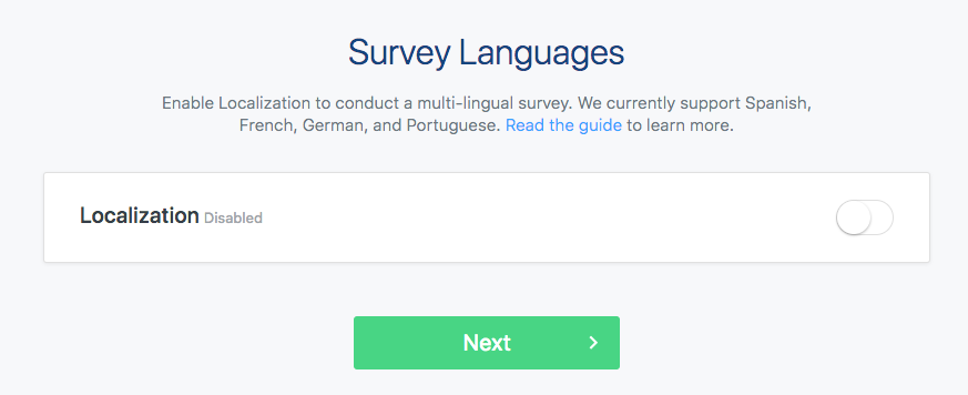 Send surveys in multiple languages surveymonkey cx help center then toggle which languages youd like to include stopboris Image collections