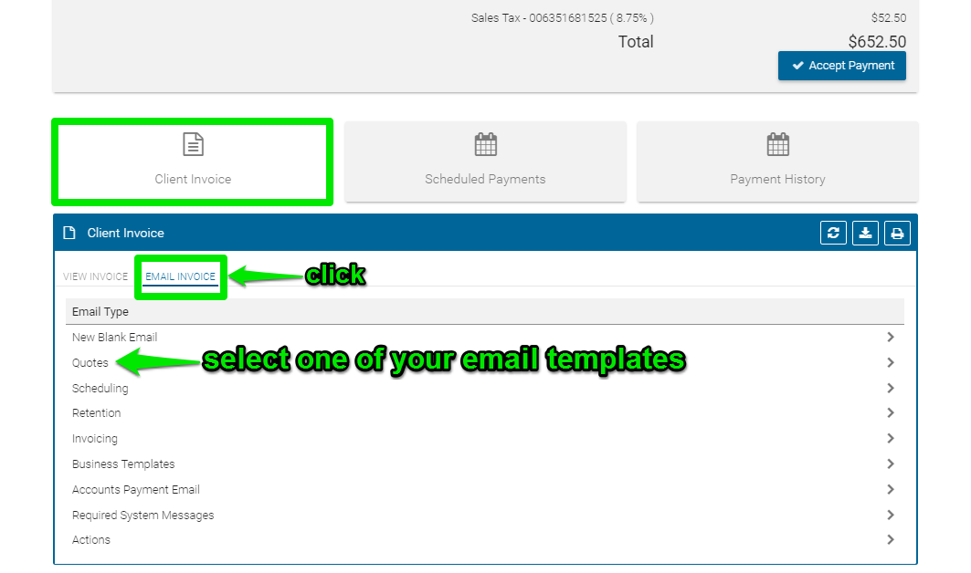How Do I Email A Quote Invoice Or Business Email In BPro Text - Invoice vs quote