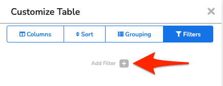 An arrow points to the + button beside