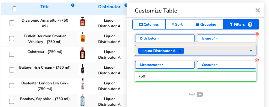 In the example, it's filtering to only display items from