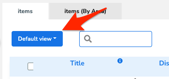 An arrow points to the drop-down arrow in the
