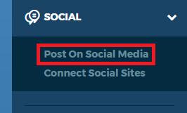 Left Nav Post on Social Media
