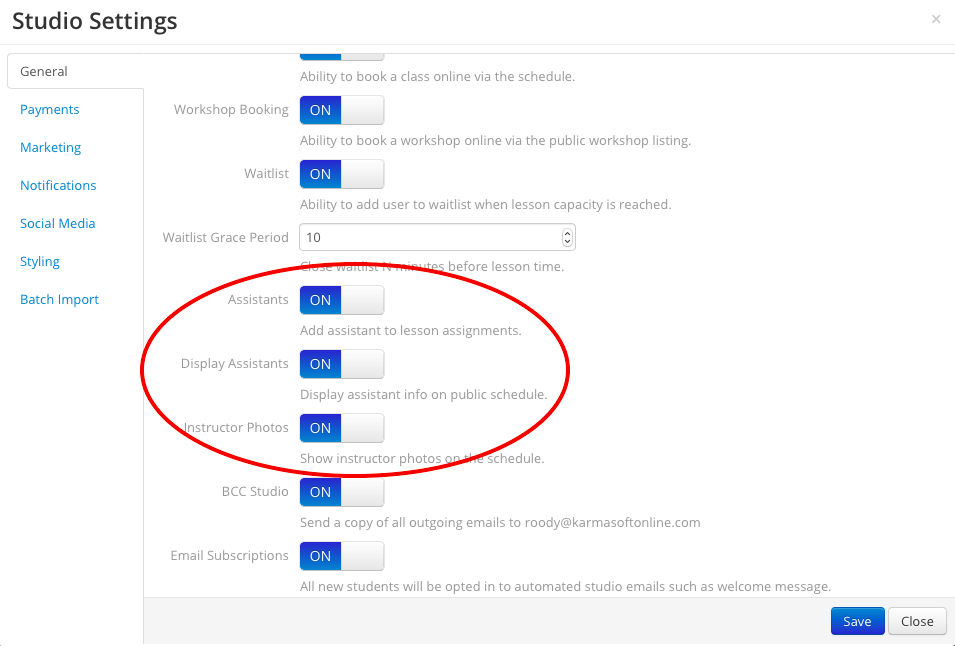 start by making sure the assistants and display assistants feature is enabled from click in the general tab make sure the