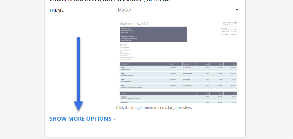 how do i adjust size of logo for invoices practicepanther help center