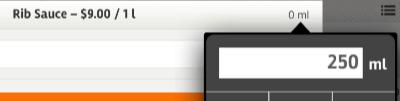 posboss iPad App - Selling by Volume