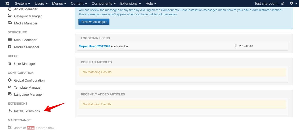 Инструкция по установке Convead на Joomla