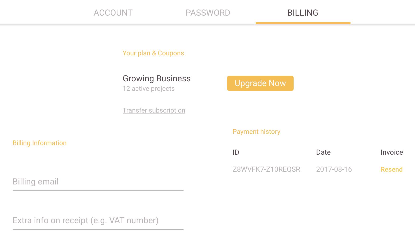 Sending Invoices Zeplin Help Center - Billing invoice app