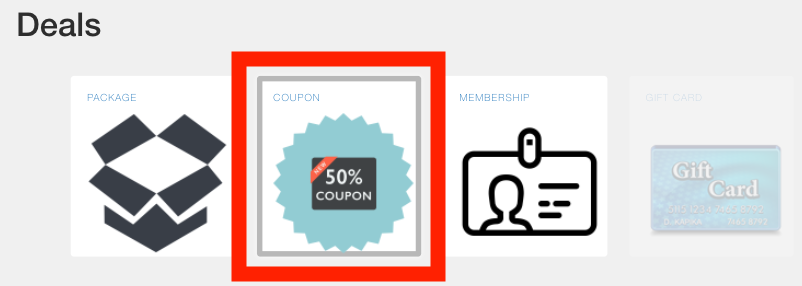 """Creating Coupons in """"Deals"""" 