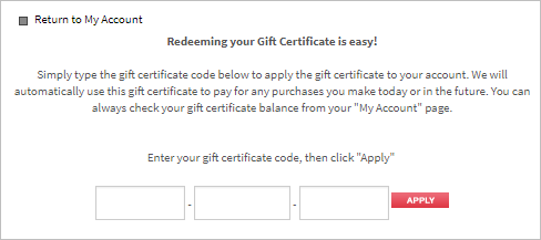 at that point the gift certificate becomes store credit on their account and it automatically applies to any future purchases they make while logged in