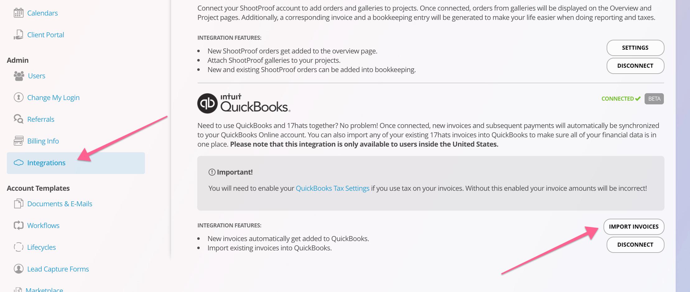 Hats Quickbooks Online Integration Hats Help Center - Import invoices into quickbooks online