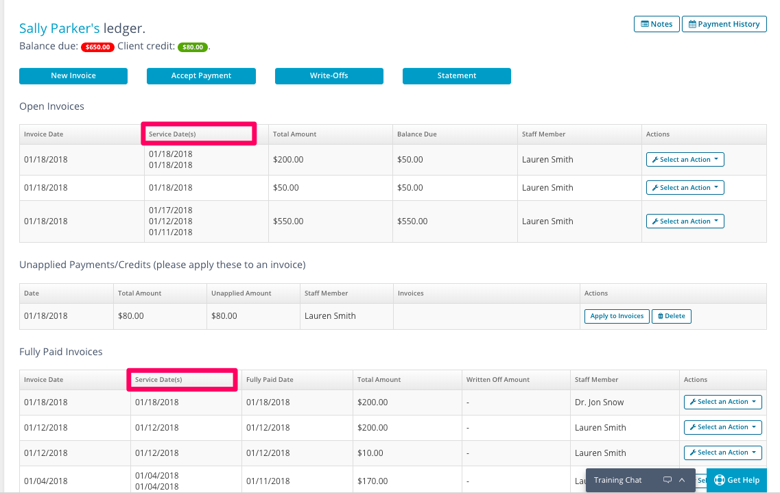 The Appointment Is Linked To Invoices And Cant Be Changed - Open invoice customer service