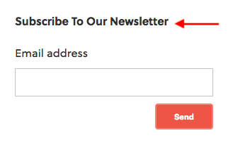 subscribe module example with arrow pointing to title