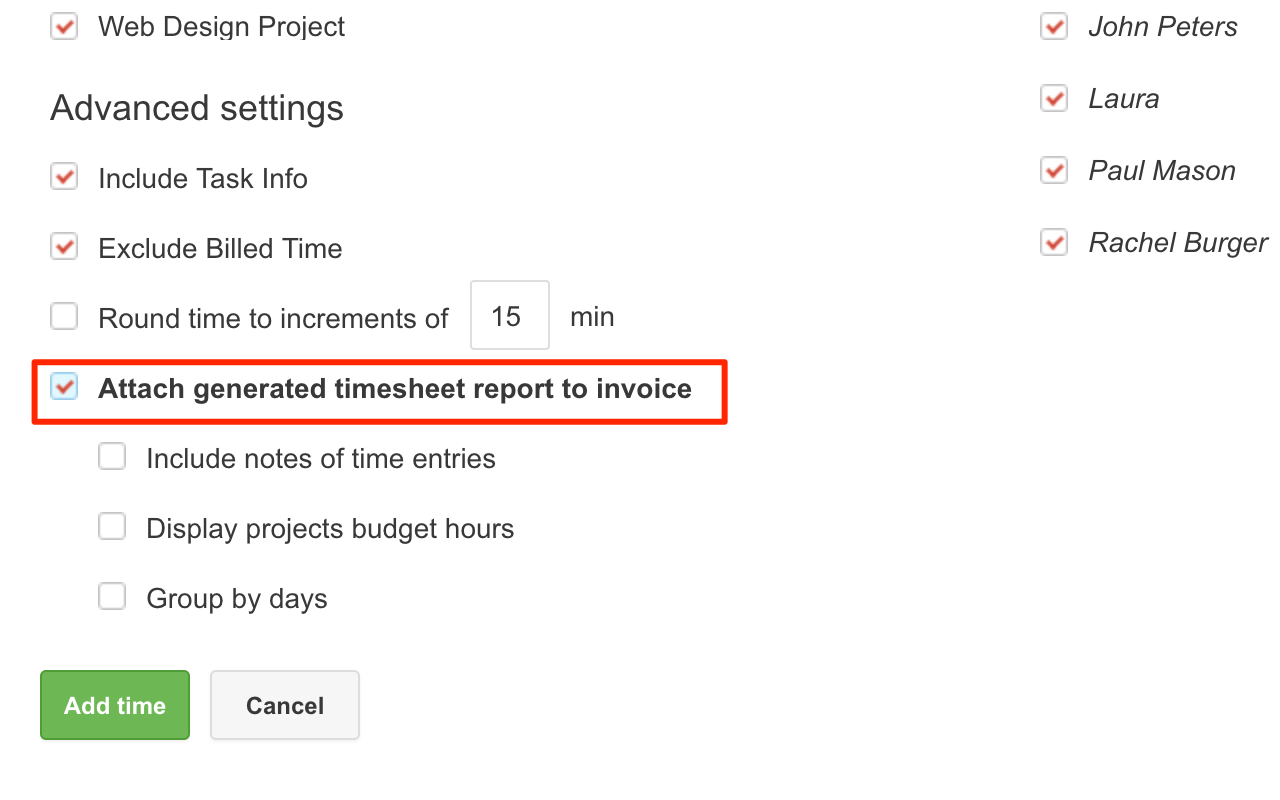 If You Select Add From Timesheet You Also Have The Option To Attach A Time  Report To The Invoice To Offer More Details.  How To Do Invoices