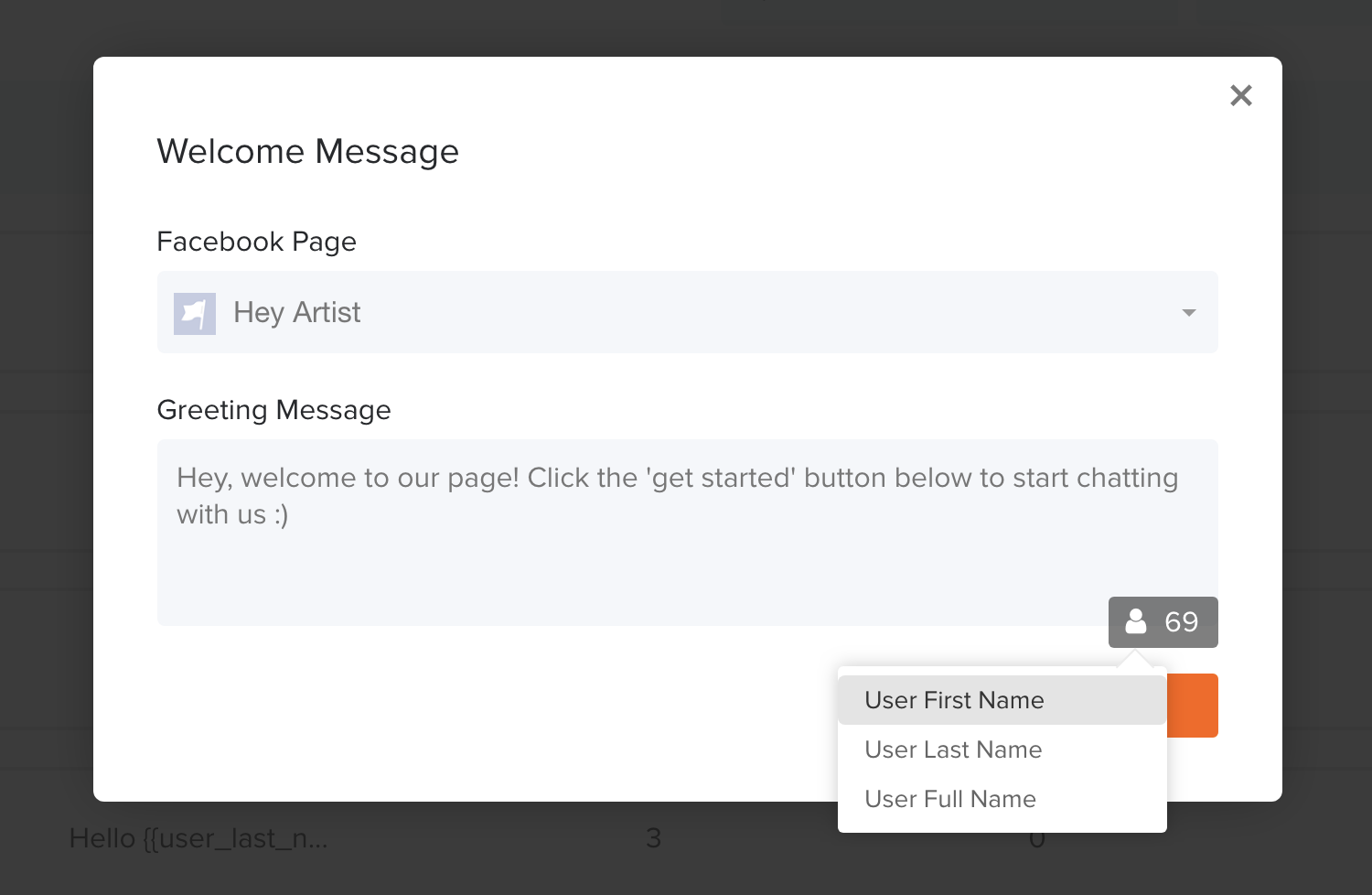 How to set up a welcome message msghero help center select your facebook page and enter a greeting message this is a short message limited to 160 characters in which you can introduce your businessbrand kristyandbryce Images