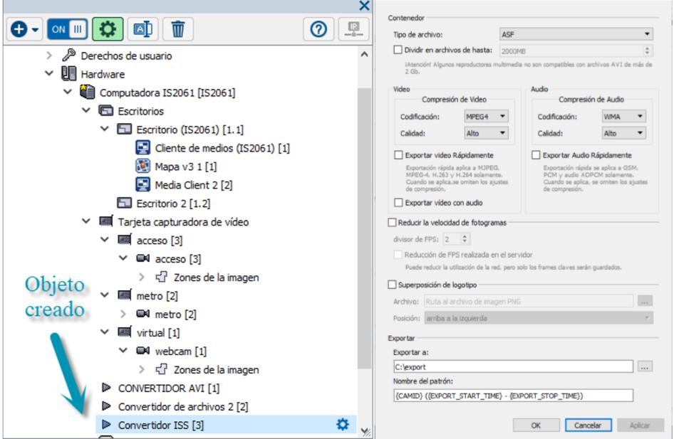 ISS - Exportar grabación en formato ISS por medio de securOS. | Base ...