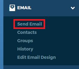 Left Nav Send Email