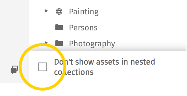 Don't show assets in nested collections