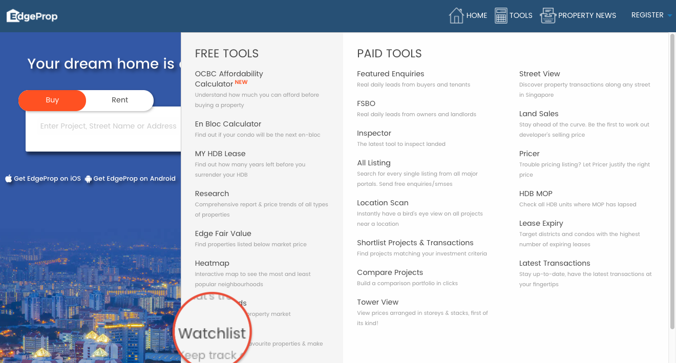 how to use watchlist edgeprop help center