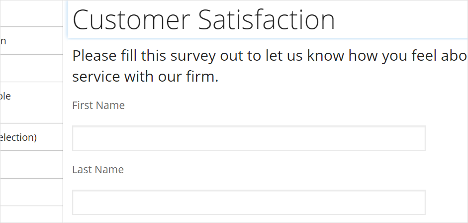 How Do I Create A Client Satisfaction Survey With Intake Forms