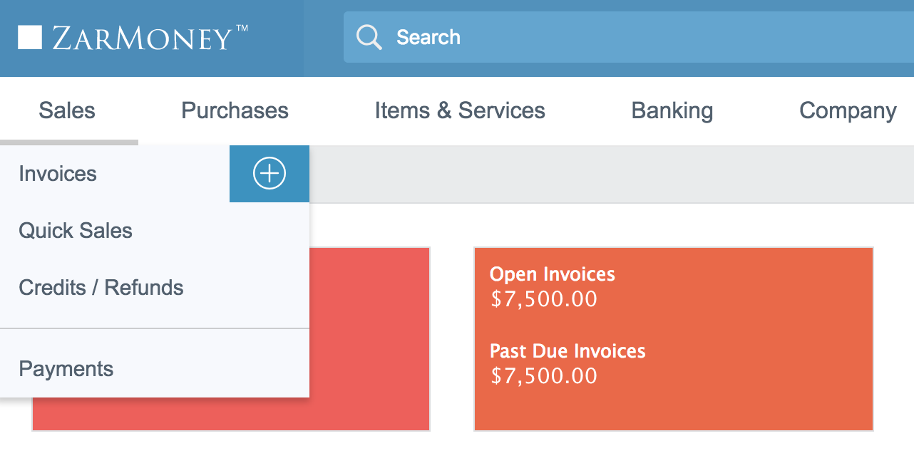 How To Create An Invoice ZarMoney Online Accounting Software - Open invoice customer service