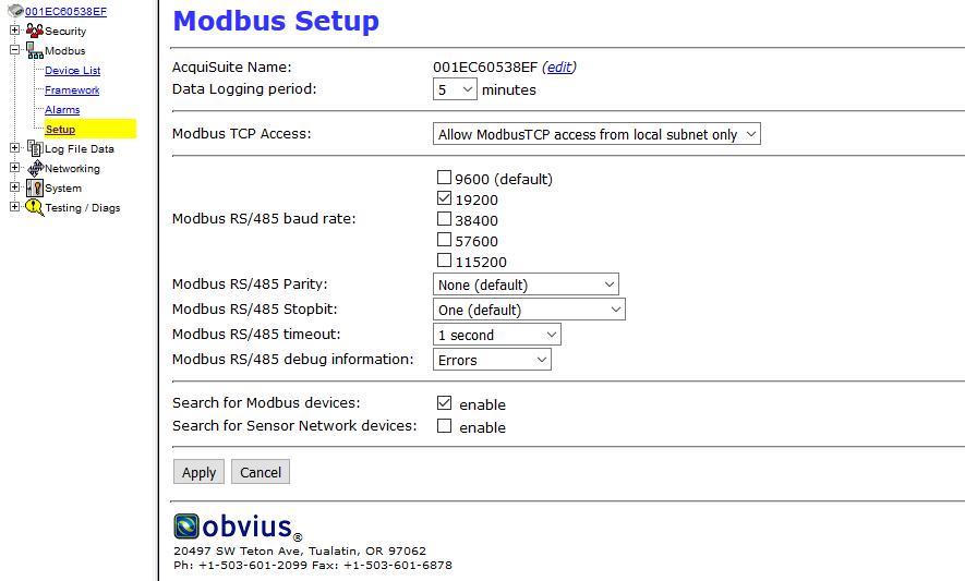 Acquisuite Server Data Push