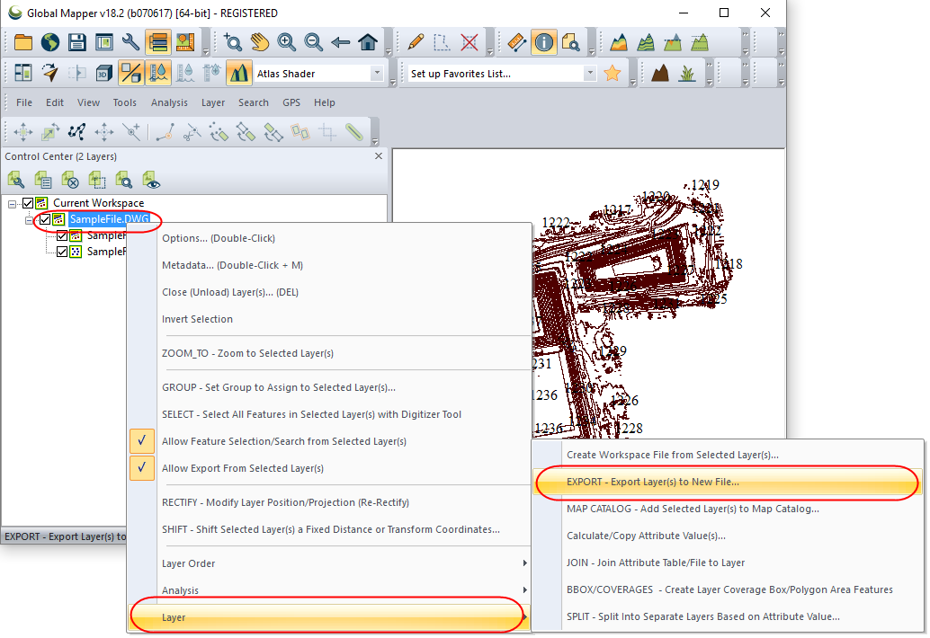 How to convert dwg dxf to kml with global mapper for Convert kmz to dwg