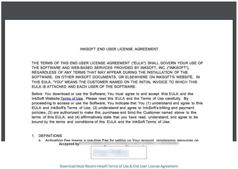 Inksoft User Agreement