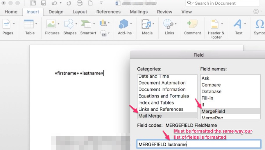 How Do I Create A Mail Merge Template In MS Word Wealthbox Help - How to create a template in word with fields
