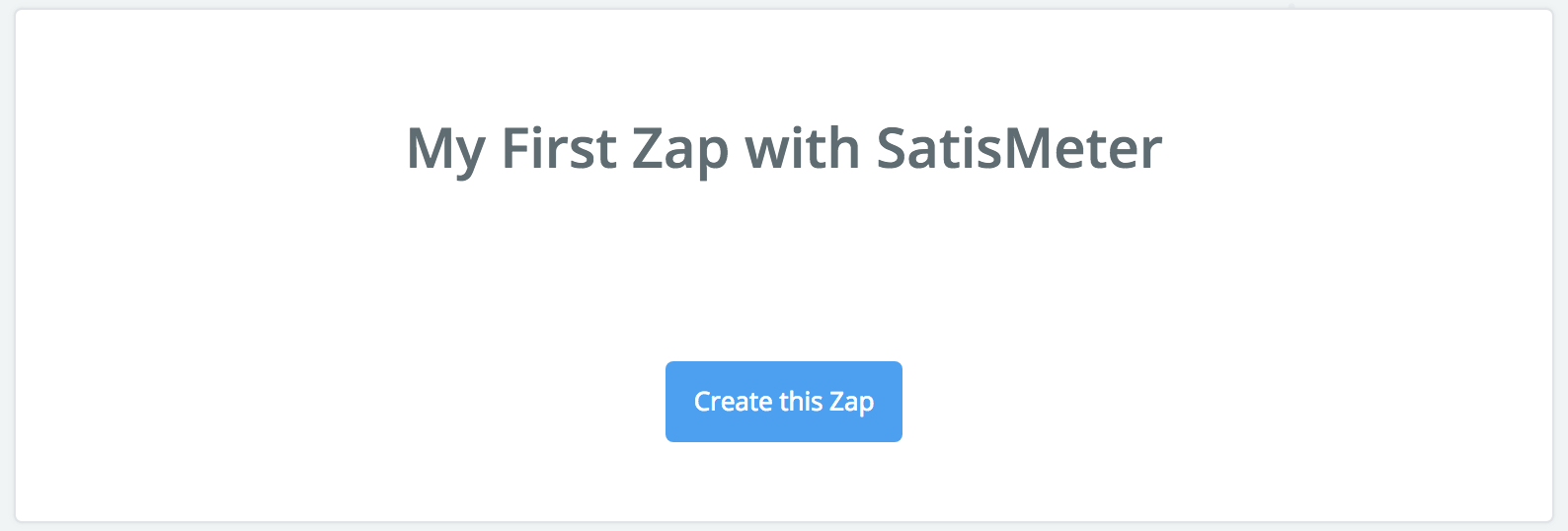 My first Zap with SatisMeter