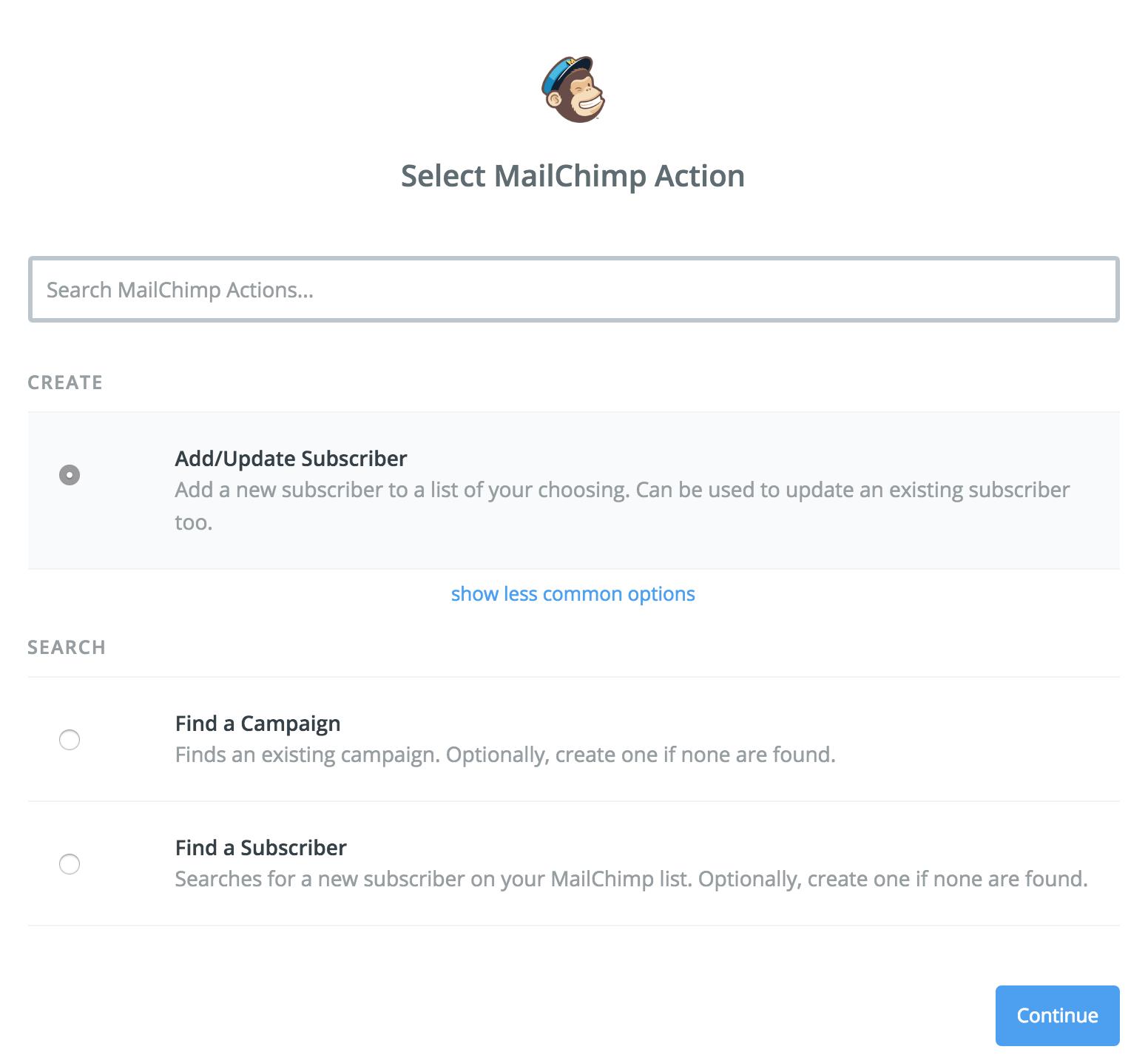 SatisMeter - Zapier integration - Mailchimp App