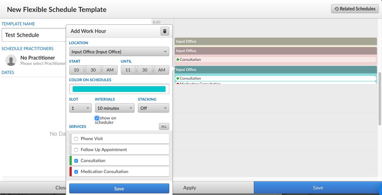 Flex Schedule Templates InputHealth Education Center - Schedule builder template