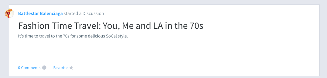 Headline: Fashion Time Travel: You, Me and LA in the 70s