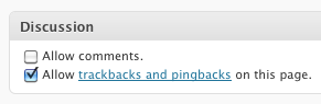 Disable the Allow comments checkbox in WordPress