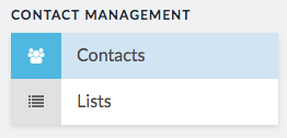 contacts button below contact management