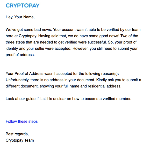 Cryptopay - Get verified with Cryptopay Android app