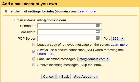 setting gmail dengan domain sendiri