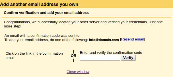 konfigurasi domain di gmail