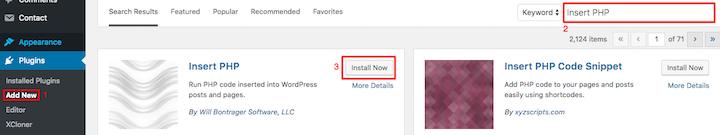 plugin insert php