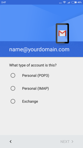 cara setting email android