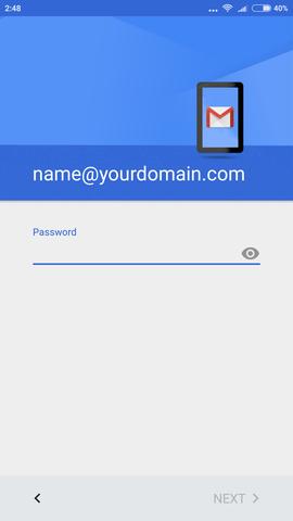 cara setting email di android 1